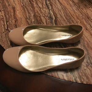Size 6 Women's Xhilaration Flat Shiny Blush Shoes
